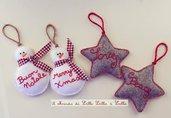 decorazione stelle o pupazzi di neve