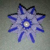 Spilla fiore blu