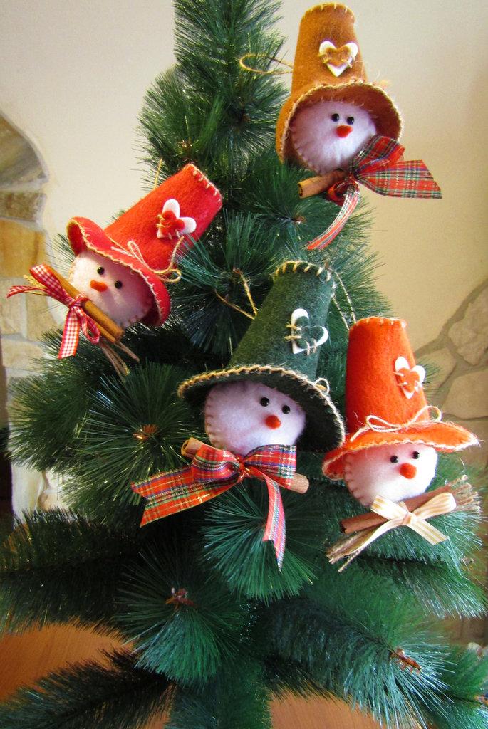 """Decorazioni per l'albero di Natale """"Pupazzo di neve"""""""