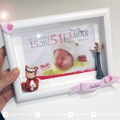 dolcissimo quadretto nascita o battesimo per la cameretta del tuo bambino