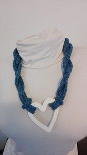 Collana blu mare con cuore