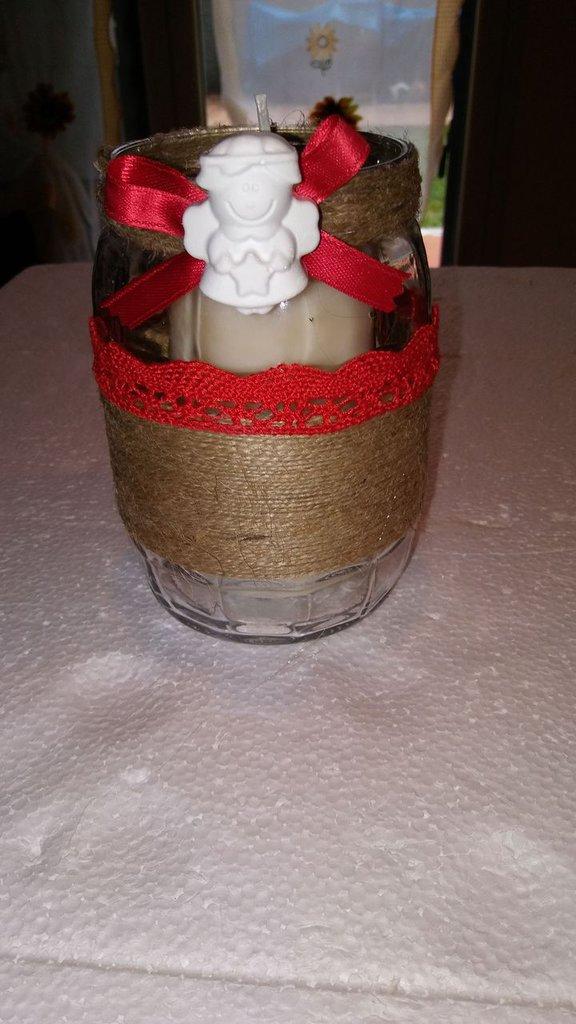 Barattolo/ candela natalizio