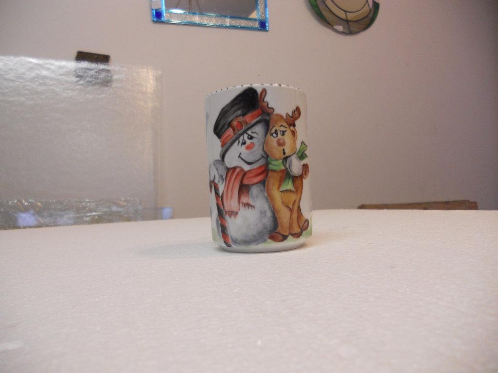 tazza ceramica dipinta a mano