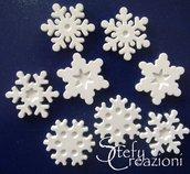 Offerta Lotto 300 Fiocchi di Neve Grandi in Polvere di Ceramica