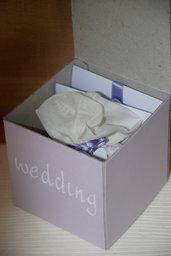 WEDDING BOX CON PARTECIPAZIONE ED INVITO DI NOZZE