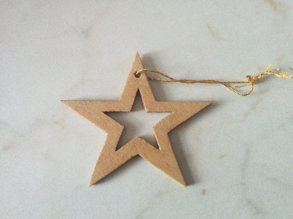 Addobbi per albero di Natale: stella