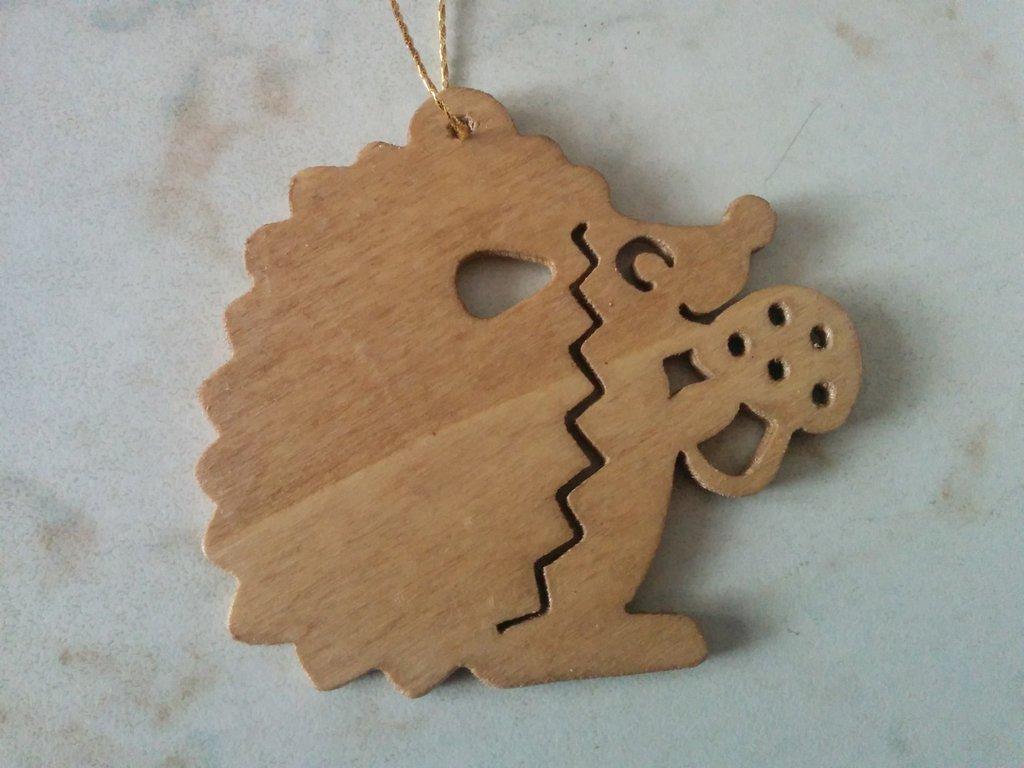 Addobbi per albero di Natale: riccio