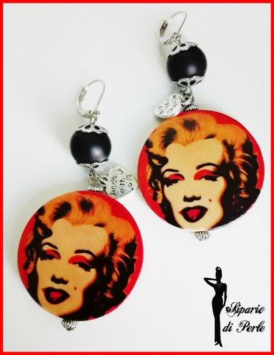 Orecchini POP ART Marilyn