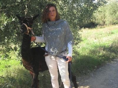Scialle di Lana d'Alpaca al 100%