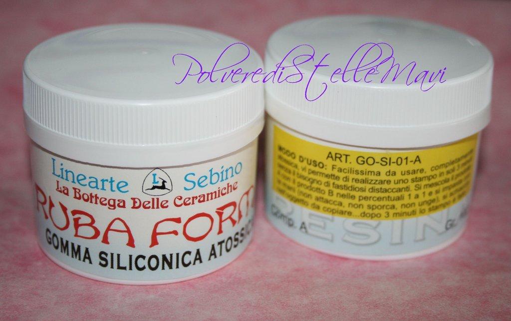GOMMA SILICONICA * RUBA FORMA * per creare stampi grammi 150+150