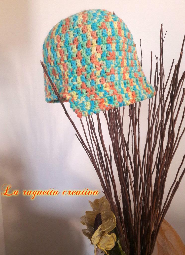 Cappello multicolor per donna