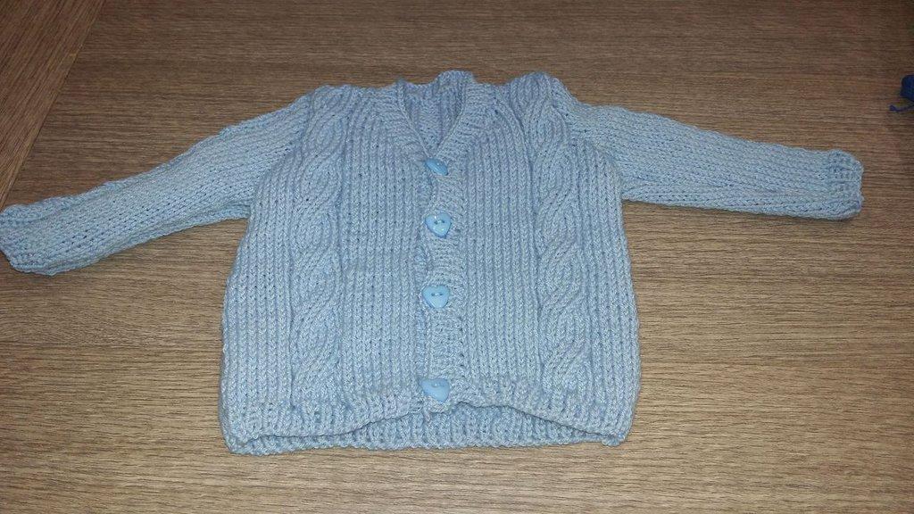 Golfino in lana bimbo bimba 3-6 mesi