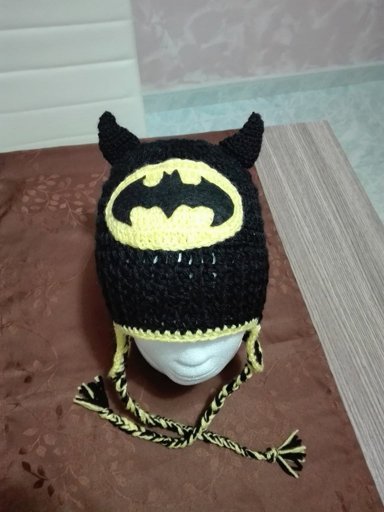 cappello batman in lana handmade