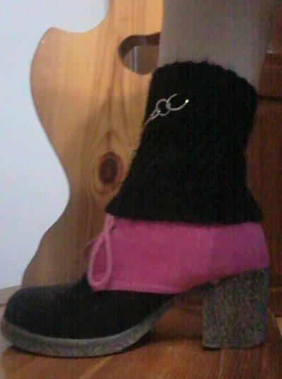 mezze calze lace boot cuff