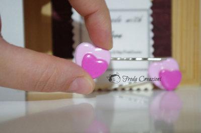 Cuoricini - 2 Forcine Capelli Cuori Kawaii - Accessori Capelli - Compleanno Bimba