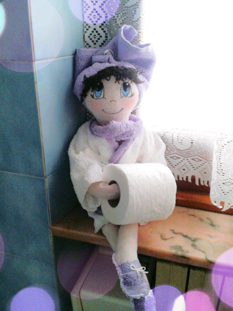 Bambola porta rotolo carta igienica per bagno per la - Porta carta igienica ...