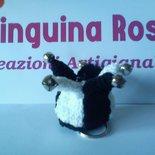 Cappellino giullare (jester's hat) bianco nero