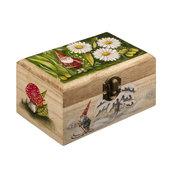 SCATOLA DI LEGNO DIPINTA A MANO - GNOMO DEI BOSCHI - oggetto regalo - pezzo unico - contenitore