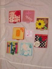 Porta foglietti adesivi in cartoncino decorazioni varie