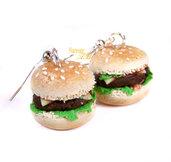 Orecchini Panini hamburger farciti in fimo idea regalo ragazza donna kawaii