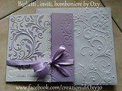 Partecipazione per Matrimonio in color lilla.