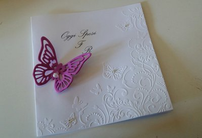 Invito - partecipazione farfalla