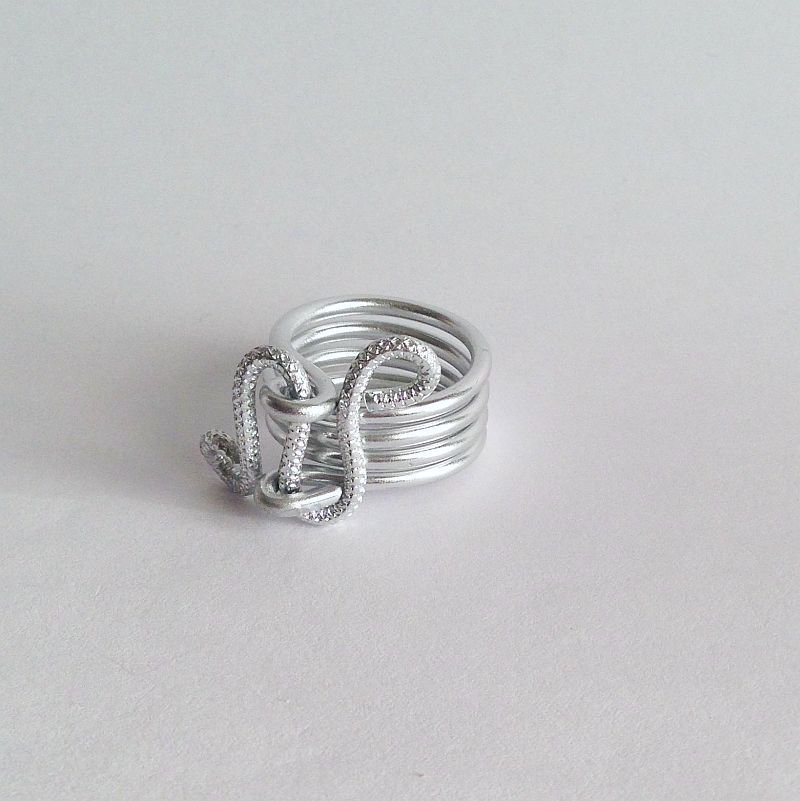 SU ORDINAZIONE Anello wire alluminio liscio