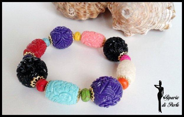 Bracciale multicolor in resina