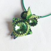 Ciondolo Gufo verde
