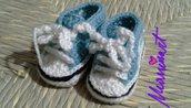 Scarpine Adidas x neonato all' uncinetto
