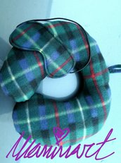 Cuscino e mascherina da viaggio scottish unisex