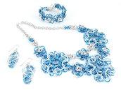 Parure in alluminio Blu