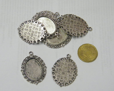 Cabochon in argento