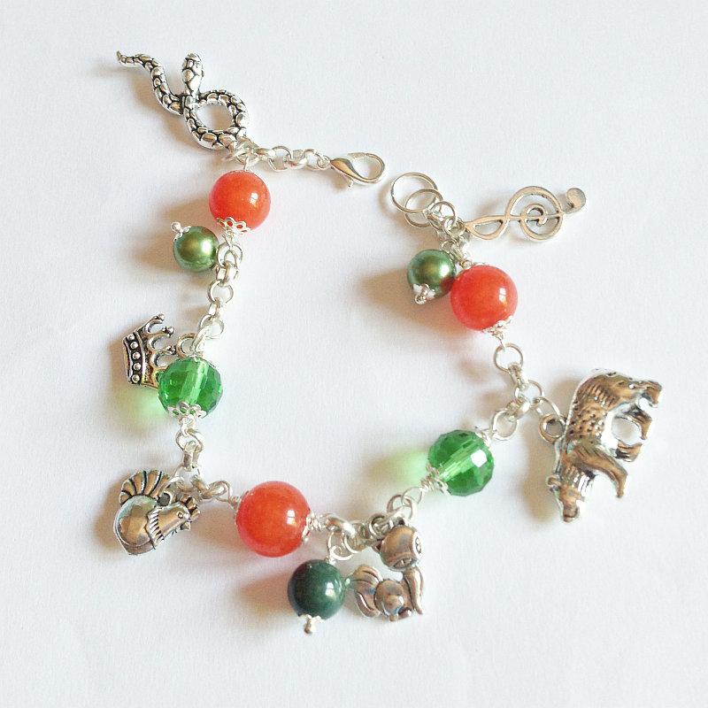 Bracciale arancione e verde di Robin Hood