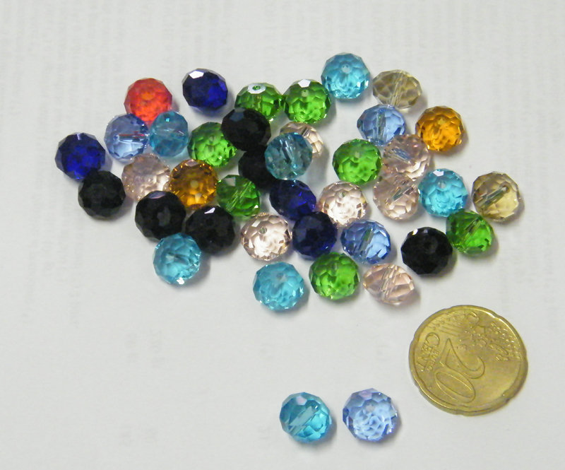 10 perle semicristalli