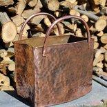 Borsa contenitore porta oggetti in rame lavorato a mano