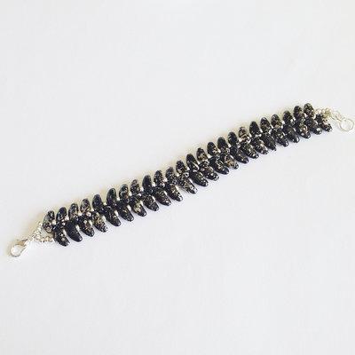 Bracciale nero argento con chilli