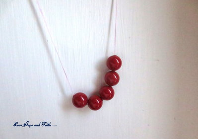 "LOTTO 5 perle ""Red Coral Pearl"" (8 mm) (cod. S5810)"