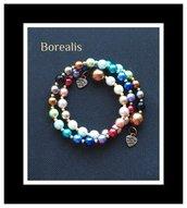 Bracciale Molla Armonica Perle di Boemia