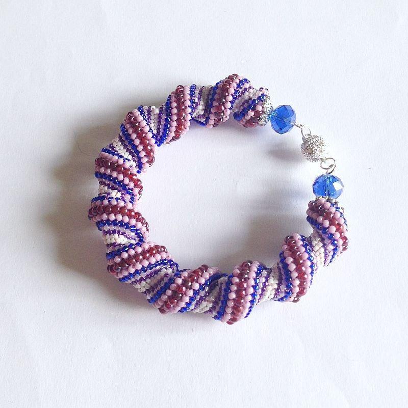 Bracciale Cellini viola e blu