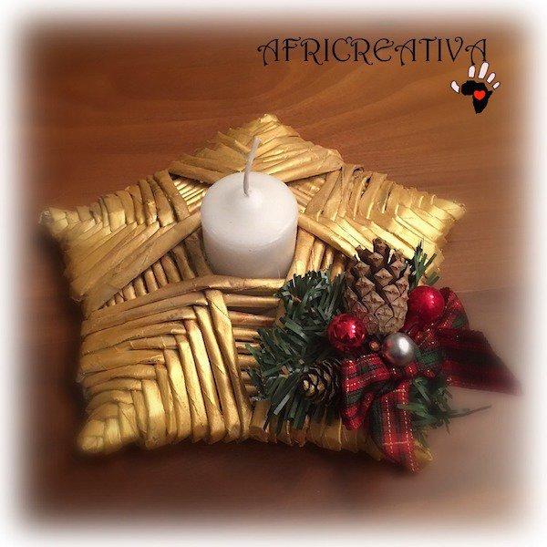 Porta candela natalizio