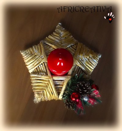 Porta candela natalizio feste natale di africreativa for Porta candela