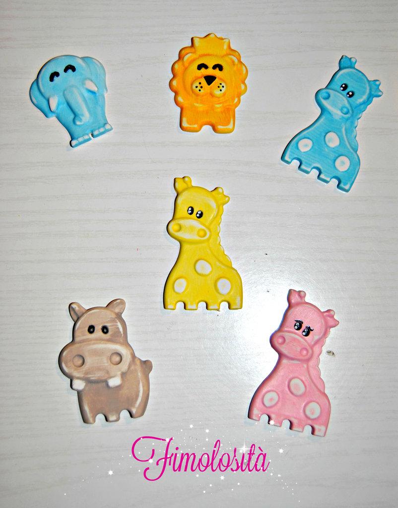 Animaletti di gesso dipinti a mano - ideali per bomboniere