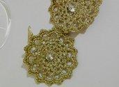 Orecchini in lurex color oro