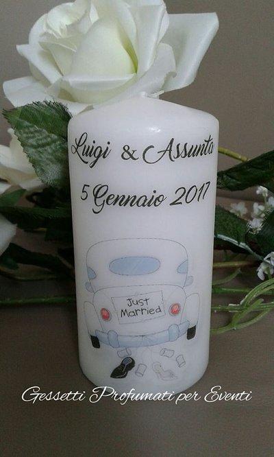 Centrotavola candela wedding