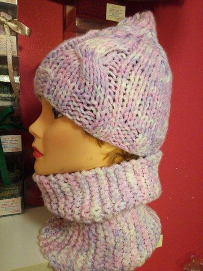 Set berretto e scaldacollo donna