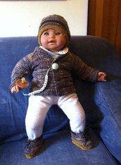 Completo bimbo 6-9 mesi in lana