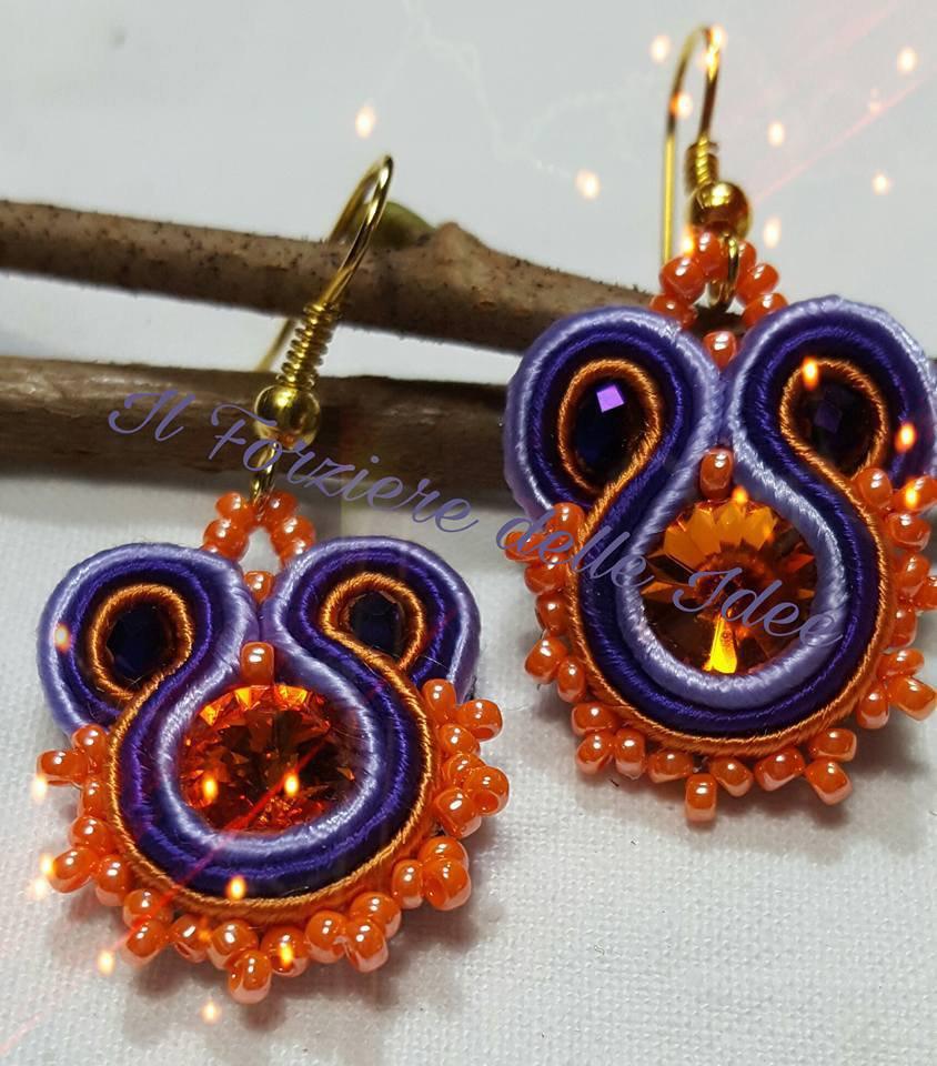 Soutache viola e arancione