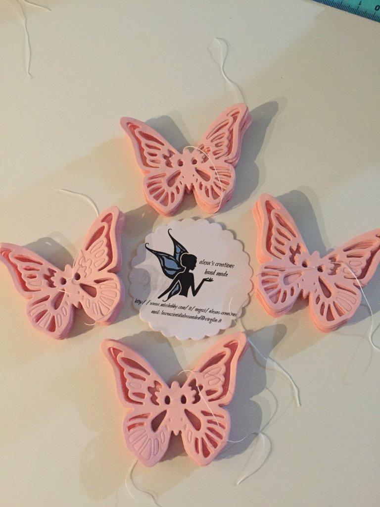 Segnaposto farfalla colorate set 10 pz