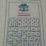 Calendario perpetuo a punto croce